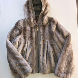 Fur cropped jacket